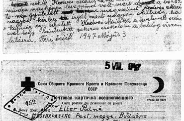 Zirkelbach Ferenc levele az orosz fogságból nagymamámnak Eller Pálné született Zirkelbach Máriának